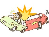 交通事故・むち打ちイラスト